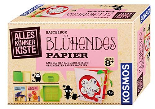 KOSMOS 604202 AllesKönnerKiste Blühendes Papier. DIY-Bastelset für Mädchen und Jungen ab 8...