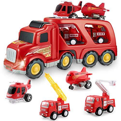 Feuerwehrauto Auto Spielzeug Set, Spiel Fahrzeug Set für Kinder...