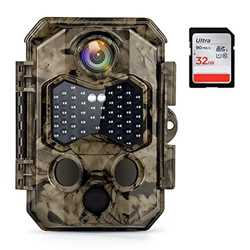 COOLIFE Wildkamera 4K 32MP Ultra-HD Infrarot nachtsichtkamera 120...