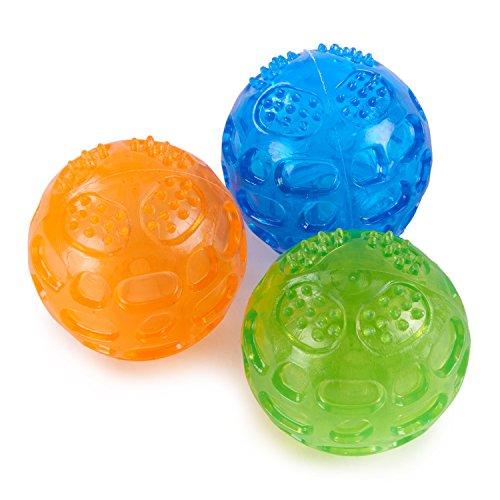 PETTOM Hundeball Quietschend Set Hundespielzeug Ball Quietschball...