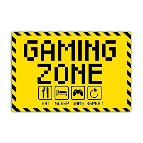 Gaming Zone Schild 20 x 30 cm eat Sleep Game Repeat für Gamer...