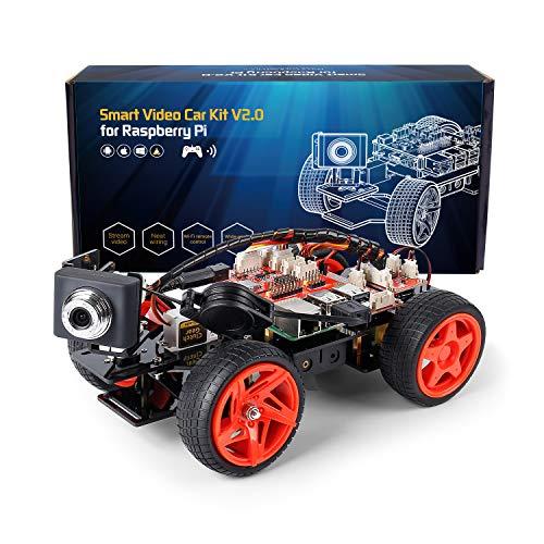 SUNFOUNDER Smart Video Car Kit V2.0 für Raspberry Pi 4 Model B 3B+ 3B 2B Roboter Bausatz mit...