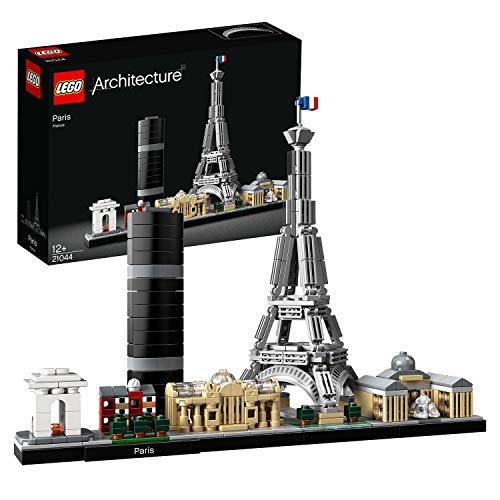 LEGO 21044 Architecture Paris, Modell mit Eiffelturm und Louvre, Skyline-Kollektion,...