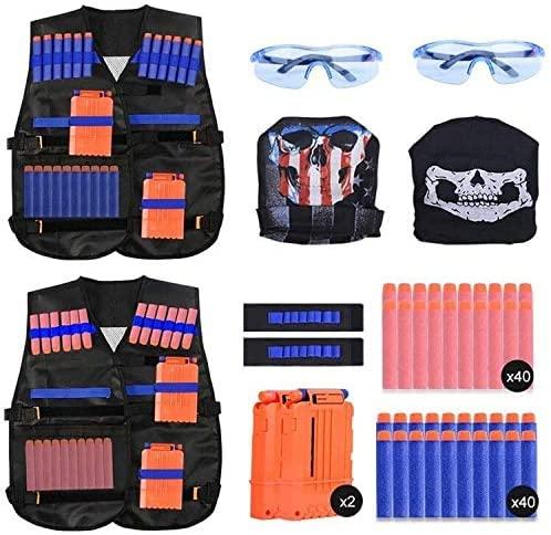EXTSUD 2er Taktische Weste Jacke Set für Kinder,Taktische Jacke...