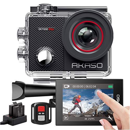 AKASO Action Cam 4K 20MP WiFi 40M Unterwasserkamera Wasserdicht...