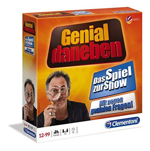 Clementoni 59094 Genial Daneben, Brettspiel für 2 bis 6 Spieler, lustiges Familien- &...