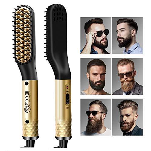 Bartglätter für Männer, Haarglätter Bürste für Bart und...