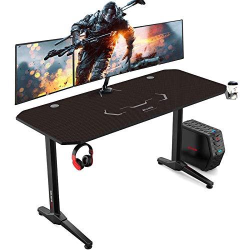 AuAg Gaming Tisch 140 cm, Groß Gaming Schreibtisch for PC...