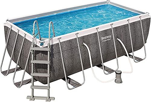 Bestway Power Steel Rectangular Pool Set 412 x 201 x 122 cm Pool,...