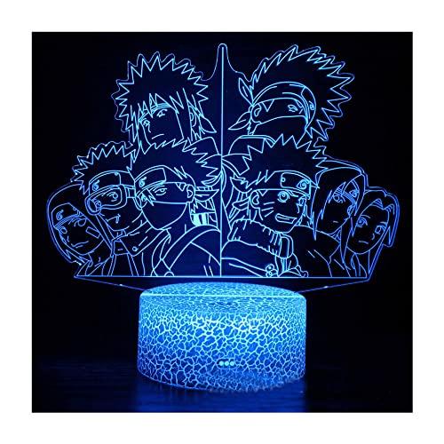 Nachtlicht für Jungen, 3D-Illusionslampe, 7-Farbwechsel-Touch &...