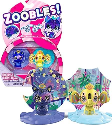 Zoobles Animals Starlight Llama und Sunshine Elephant 2-Pack - 2...