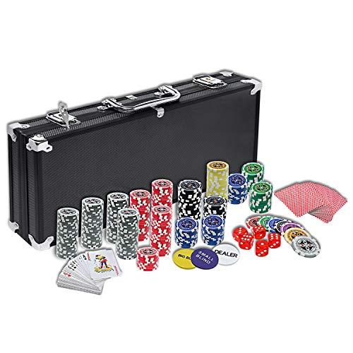 NAIZY Laser Pokerchips 500 Chips Pokerkoffer 12 Gramm Metallkern...