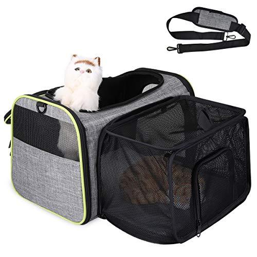 TAMOWA Transportbox Katze Transportbox Hund Faltbare...