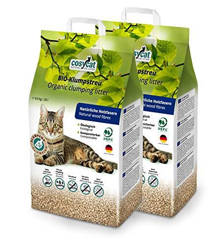 COSYCAT Sparpack 40 l klumpendes Bio-Katzenstreu aus Holzfasern -...