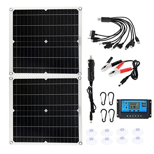 100W Tragbares Solarpanel-Ladegerät Faltbares Stromaggregat Mit...