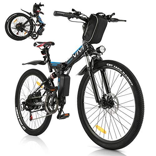 VIVI E-Bike Faltbares Elektrofahrrad,Erwachsene 26 Zoll Ebike...