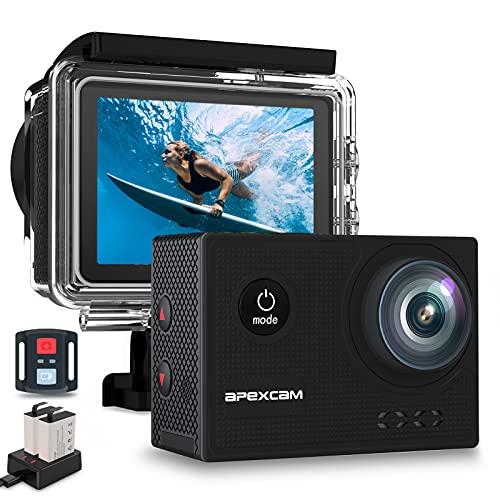 Apexcam X60Pro Action Cam 4K 60fps WiFi 20MP Unterwasserkamera...