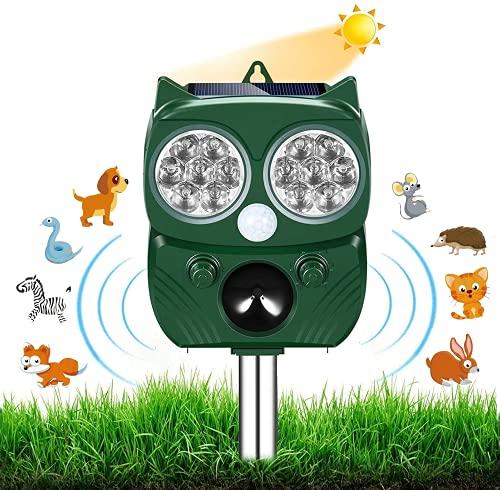 Neu Katzenschreck,Ultraschall Abwehr mit Solarbetrieb und Blitz...