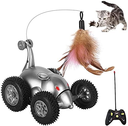 SlowTon Remote Katzenspielzeug, Maus Form Interaktive Bewegen...