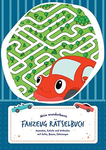 Rätselblock für Kinder (Fahrzeuge-Edition) - Rätsel für...
