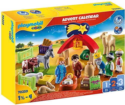PLAYMOBIL Adventskalender 70259 Weihnachtskrippe mit liebevollen...