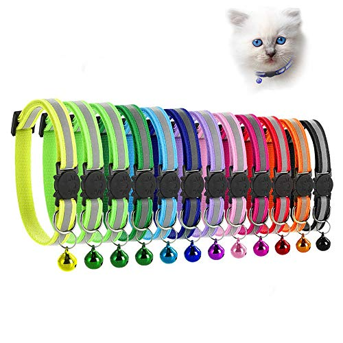 MAIYADUO Katzenhalsband,Katzenhalsbänder mit Glocke,...