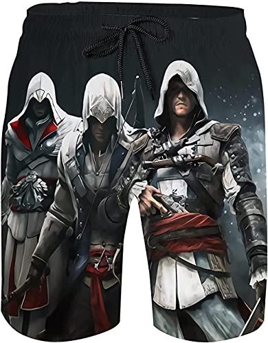 CCBZLY Assassin's Creed Badehose Jungen, Lässige Assassin's...