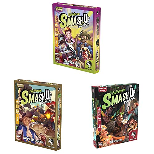 Pegasus Spiele 17277G - Smash Up Die Wilden 70er Set + Widerstand...