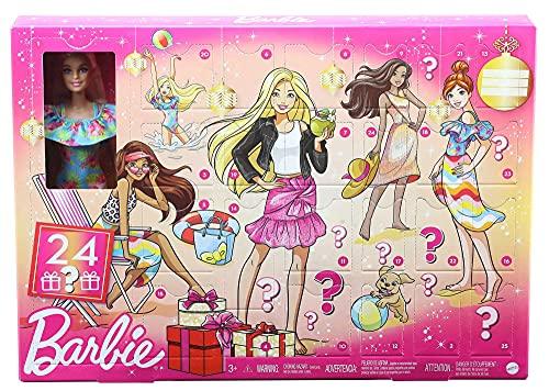 Barbie GYN37 - Adventskalender mit einer Barbie Puppe, 24...