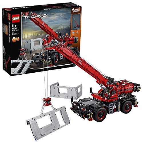 LEGO 42082 Technic Geländegängiger Kranwagen oder mobiler Freifallhammer, 2-in-1...