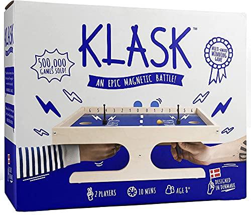KLASK - Preisgekröntes Geschicklichkeitsspiel für 2 Spieler -...