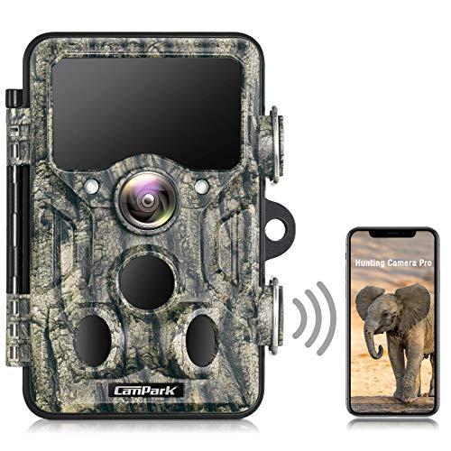 Campark Wildkamera WLAN 20MP 1296P Bluetooth Jagdkamera mit...