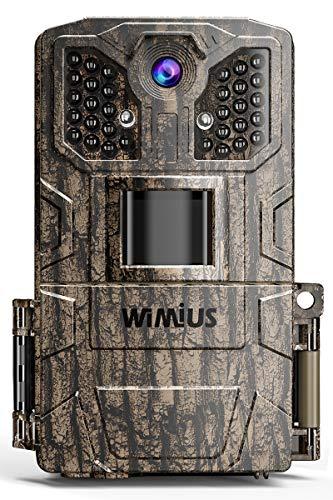 WiMiUS Wildkamera 24MP 1080P Infrarot-Nachtsicht Wildtierkamera...