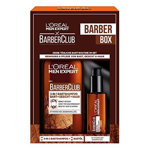 L'Oréal Men Expert Bartpflege Set mit Bartöl und Bartshampoo,...