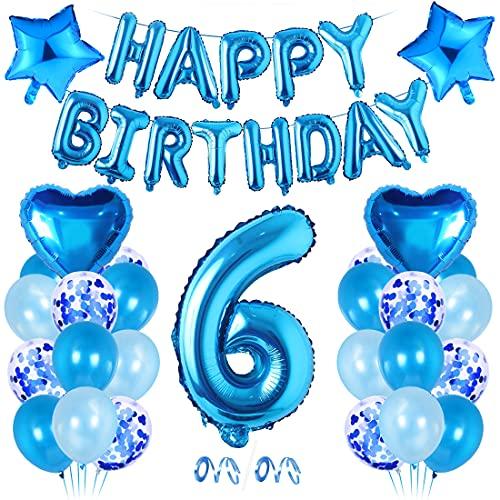 Bluelves Geburtstagsdeko Junge 6 Jahr,6 Jahr Dekoration...