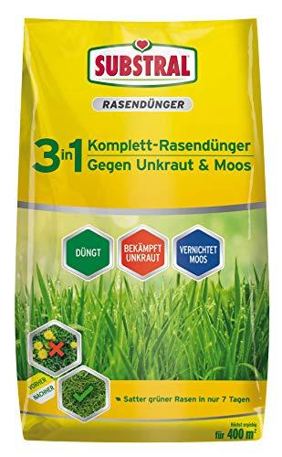 Substral 3 in 1 Komplett Rasendünger mit Unkrautvernichter und...