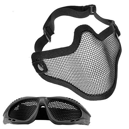 MOPOIN Paintball Maske, Airsoft Masken Softair Maske Mesh-Maske...