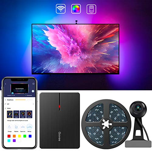 Govee LED TV Hintergrundbeleuchtung, WiFi TV Beleuchtung Kit mit...