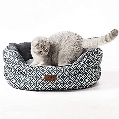 zzook Katzenbett Katzen Bettchen Gross Katzen Bett mit Zweiseitig...