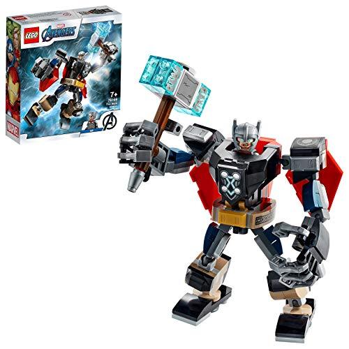 LEGO 76169 Super Heroes Marvel Avengers Thor Mech Set, Actionfigur mit Thor als...