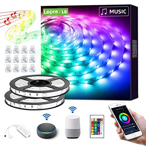 LE Smart LED Strip 10M(2x5M) Musiksteuerung, RGB LED Streifen...