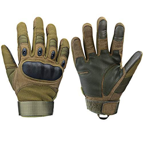 Xnuoyo Gloves Gummi Hart Vollfinger und Halbe Fingerhandschuhe...