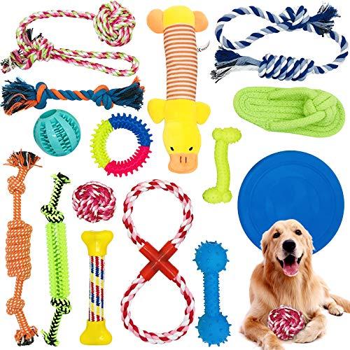 McNory Hundespielzeug Set,Hundeseile, interaktives Pet Rope...