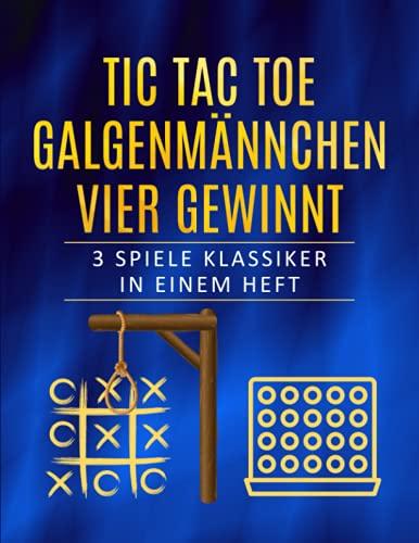 TIC TAC TOE, GALGENMÄNNCHEN, VIER GEWINNT: 3 Spiele Klassiker in...