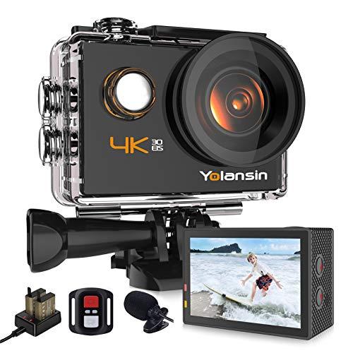 Yolansin Action Cam 4K WiFi 20MP 40M wasserdichte...