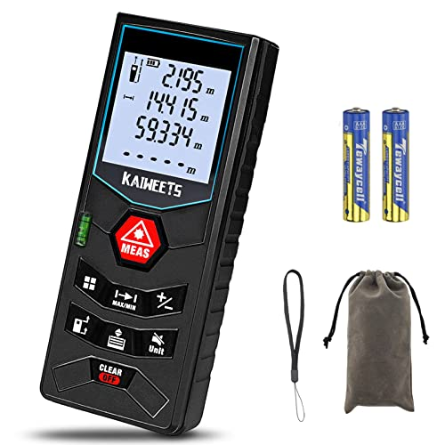 Laser Entfernungsmesser, bis zu 60m/±2mm Messgerät, Kaiweets...