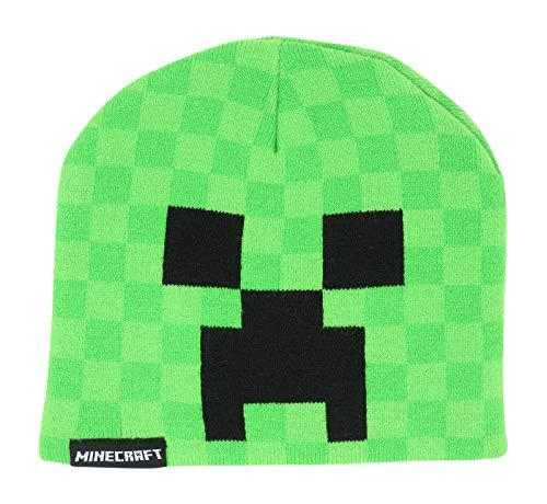 Minecraft Creeper Kids Beanie Mütze New Licensed Green