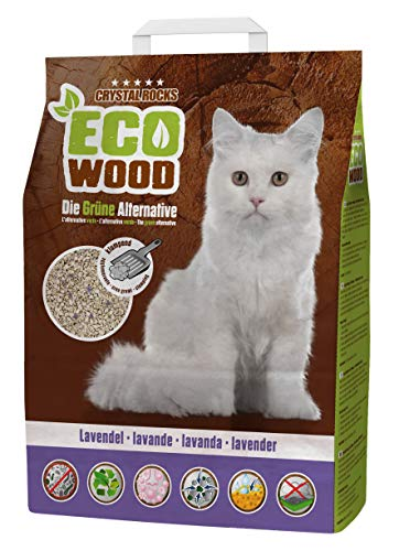 Crystal Rocks Katzenstreu ECO Wood Lavendel | Premium Streu aus...