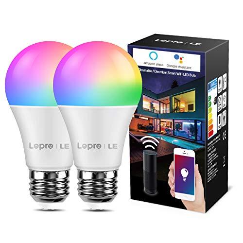 LE Smarte Glühbirnen E27, 9W WiFi Lampe Smarthome Glühbirnen,...