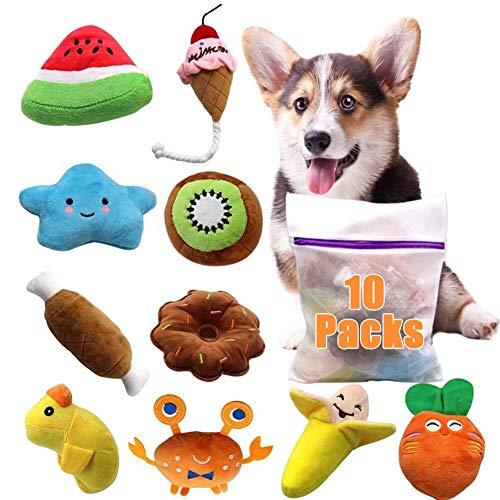 Hund Quietschspielzeug 10Pack, ein robustes, weiches...